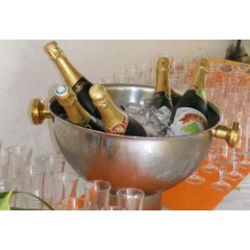 Vasque a champagne inox en location