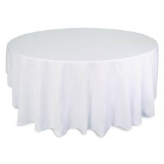 Nappe ronde blanche