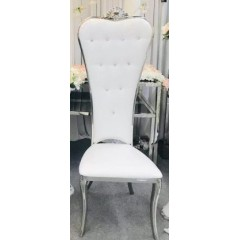 Chaises royale blanc or et strass location