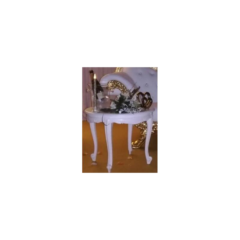 Support mariée pvc blanc location grand plateau
