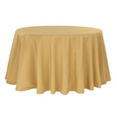 Nappe Ronde Unie 280 Cm Or location