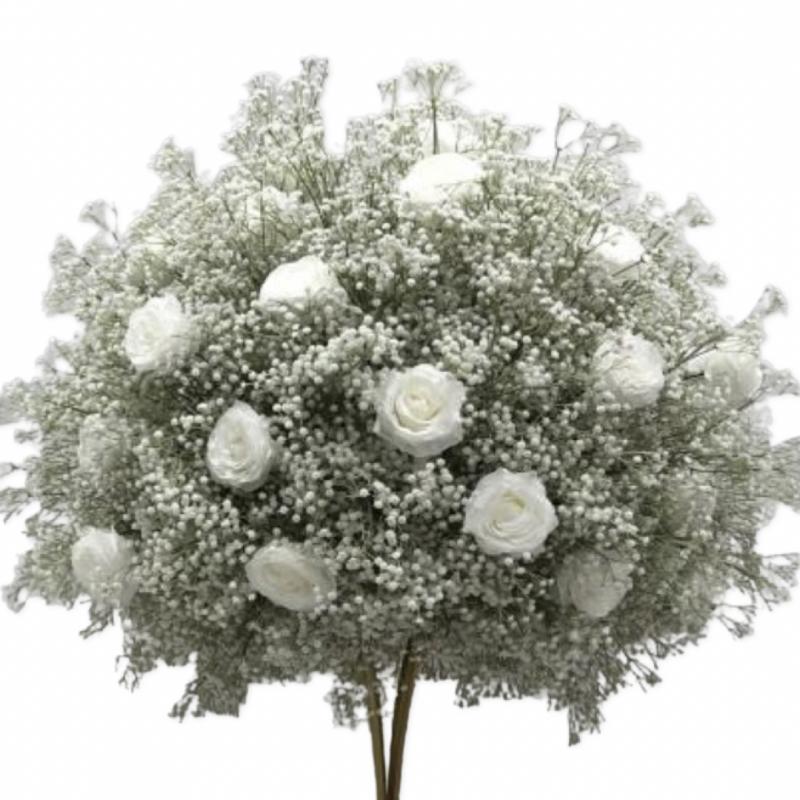Arbre artificiel  plastique  blanc  haut 75 cm location