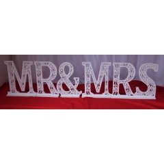 MR &  MRS LUMINEUSE LOCATION DECO 6 LETRE