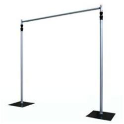 Colonne ronde en métal blanc diamètre 30 hauteur 50 cm location